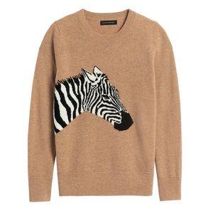 Itillan wool blend zebra sweater